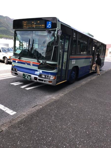 びわ湖バレイ行きのバス