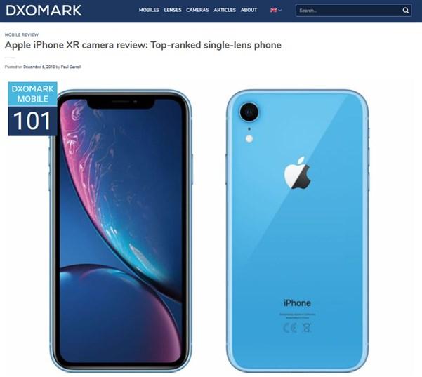 DxOMarkによるiPhone XRのスコア