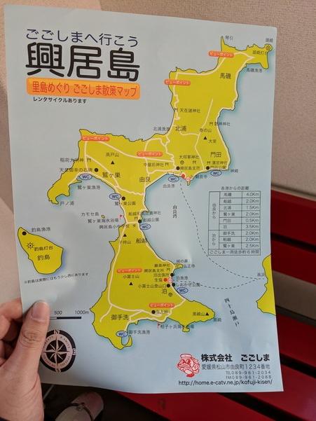 興居島の地図
