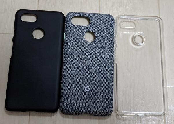 Pixel 3の保護ケースをグーグル純正品含め3つ試してみた