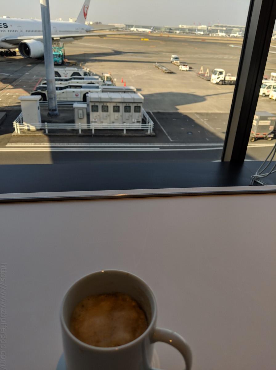 羽田空港羽田空港POWER LOUNGEからの景色