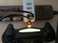 PS4コントローラーをコンセントから充電