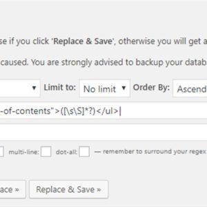 WordPressではてなブログの目次を一括で削除する正規表現