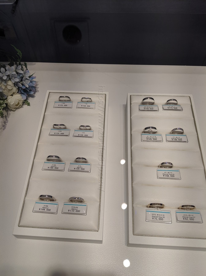 銀座ダイヤモンドシライシで見た結婚指輪