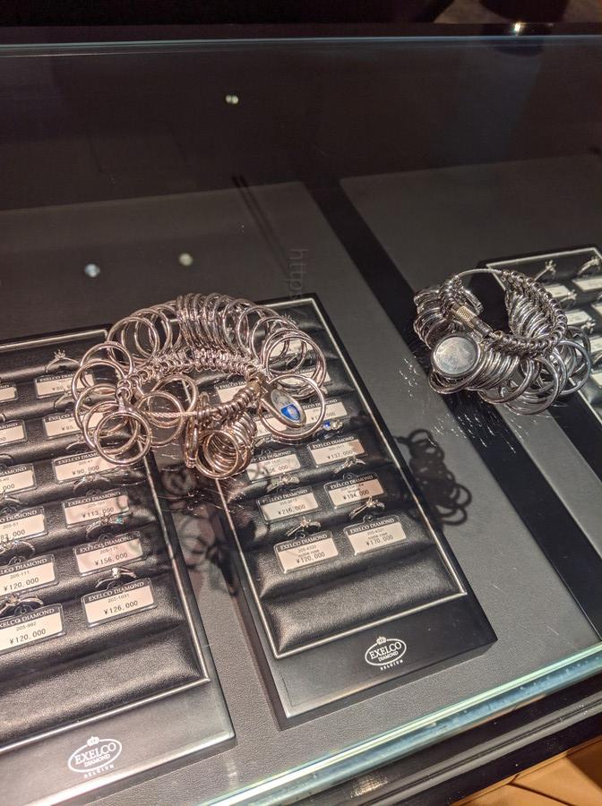 エクセルコダイヤモンドにおける指輪のサイズ確認