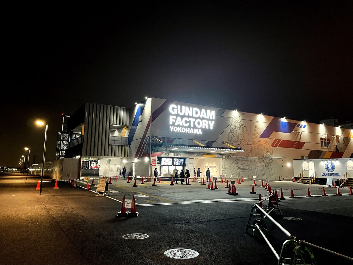 iPhone12miniのカメラで撮影したガンダムFACTORY横浜の施設